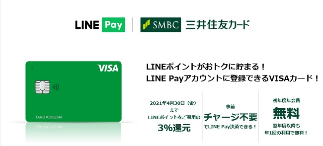 Visa LINE Payカード ポイント還元率・入会キャンペーン